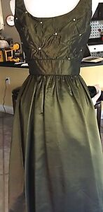 Olive Green Floor Length Formal Ball Gown-Prom/Ball/Mardi Gras/Formal Occasions