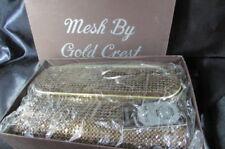 VINTAGE BRONZE GOLD CREST MESH SHOULDER  BAG / BAG