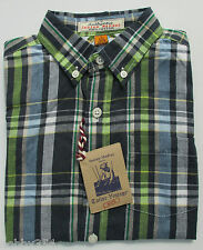 Boys Shirt Tailor Vintage Short Sleeve 100% Cotton Blue Red Green Ages 4 to 10