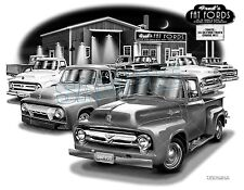 FORD TRUCK 53,54,55,56 MUSCLE PICK-UP CAR ART PRINT   #2900