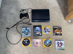 Playstation 3 Super Slim 12gb. Works perfectly! + 8 Games!!