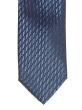 Alfani Men's Geometric DOT Striped Neck Tie & Tie Clip Blue Skinny 2 1/2