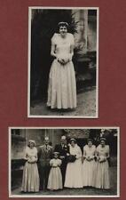 Wedding. Bride Groom dress  flowers . Vintage photographs  postcard  size f177