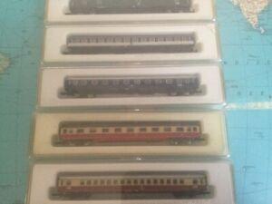 Marklin Mini Wagons [DB] set of 5 wagons. 8722, 8712, 8740, 8711, 8722