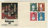 Germany 1972 Berlin Slogan Cancel Chess FDC Multiple Stamps Cover Ref 24280