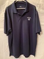 Under Armour North Carolina Polo Mens XL 1/4 Button Up Blue Short Sleeve