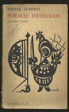 Rafael Alberti Book Poemas Escenicos 1Ed 1962 Losada