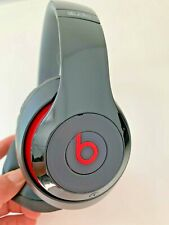 Beats By Dr Dre Studio  Wired Gloss Black Red Headphones