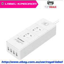 Orico 10A 1.5Meter 4-Outlet Power Board with 4 USB Rapid Charger