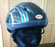 "Bell Cycling Helmet Adult Striped Bike Black Blue Silver Size S/M  21"" - 22.1/2"""
