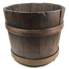 Antique Primitive Wood Bucket Staved