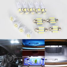 Car White LED Lights Kit for Stock Interior & Dome & License Plate Lamps 13x EJ