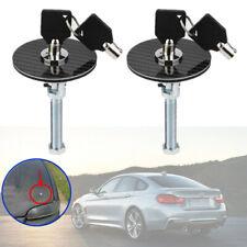 1Pair Racing Carbon Fiber Mount Bonnet Hood Latch Pin Key Locking Kit Universal