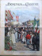 La Domenica del Corriere 15 Aprile 1902 Milano Roma Bersezio Bianco e Nero Arti