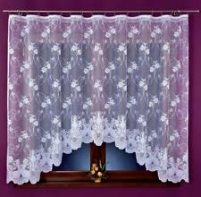 Beautiful New White Ready Made Jacquard Net Curtain 320x160cm Window Decoration