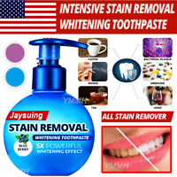 US Intensive Stain Removal Whitening Toothpaste Press Type Fight Bleeding