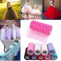 "Tutu Tulle Rolls 6"" Wide 10Yards Glitter Ribbon Wedding Bow Fabric Bridal Crafts"