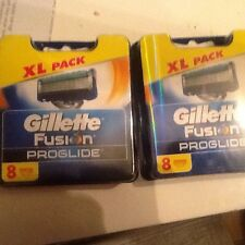 Gillette Fusion Proglide Xl Pack X2 16 Hojas 100% Genuino