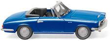 Wiking Ho 1:87 018649 Glas 1700 Gt cabriolet blue metallic 1965 - New