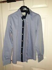 Jack And Jones blue Shirt Size Small premium contrast Superdry All Saints Lewin