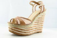 Enzo Angiolini Size 7 M Brown Ankle Strap Leather Women Sandal Shoes