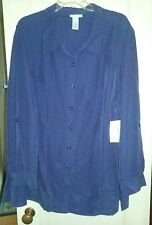 Purple Catherine's Blouse, NWT, Soft, Flowing, 22/24W