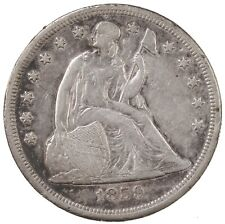Raw 1859-O Seated Liberty $1 Uncertified Ungraded New Orleans Mint Silver Coin