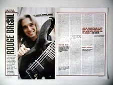 COUPURE DE PRESSE-CLIPPING :  ANGRA [2pages] 03/2003 Kiko Loureiro,Rebirth World