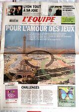 L'Equipe Journal 22/5/2003; Lyon à fêter le titre/ Paris Candidat des J.O. 2012