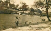 1911 Kansas City Missouri Troost Lake North American RPPC Photo Postcard 3763