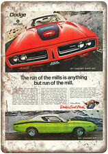 """1971 Dodge Charger Super Bee Sports Car 10"""" x 7"""" Reproduction Metal Sign"""