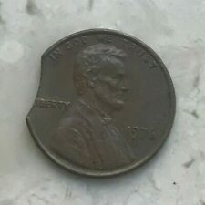 1976 Lincoln Cent Error - Clip Clipped Planchet