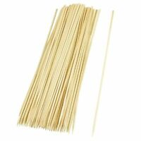 100 x BAMBOO SKEWERS Wooden Kebab BBQ Fruit Chocolate Fountain Fondue stick