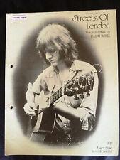 Ralph McTell - 'Streets Of London' - 1970's Vintage Sheet Music Score!