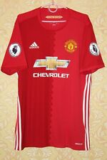 Manchester United MU 2016 2017 Adidas Home Red  Shirt Jersey Size L