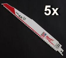 "5 x MILWAUKEE 5026 THE AX DEMOLITION 9"" 230mm 5TPI RECIPROCATING SAW BLADES"
