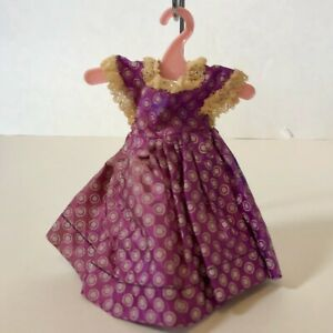 Vintage 1950s GINGER Doll Purple Polka Dot Taffeta Dress TAGGED Cosmopolitan