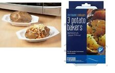 3pc Microwave Cookware Jacket Potato Bakers Maker Tray Kitchen Baked Potato New