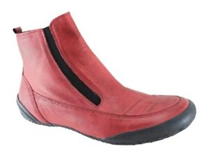 La Pinta Karin Bordo Red Leather Ankle Boots