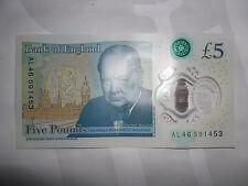 £5 AL NOTE UK FIVE POUNDS POLYMER NOTE ALAN ALISON ALANA ALASTAIR ALBA ALEX