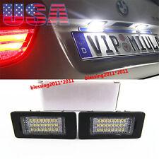 2PCS No Error LED LICENSE PLATE LIGHT For BMW X5 E39 E60 E90 E70 E88 E92 E93 M3