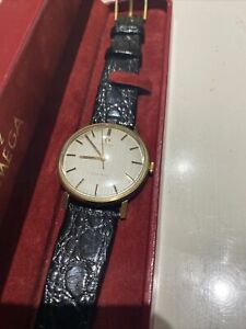 Vintage 9ct Gold Omega Geneve Manual Mens Cal 601