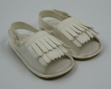 Baby Girls White Fringe Top Sandals Shoes Size 6-12 Months