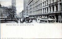 1905 Chambers Street View Trolleys New York City Undivided Postcard