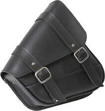Willie & Max Black Motorcycle Swingarm Storage Bag - Dual Shock Application