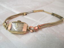 Vintage 1949 Elgin Schwab & Wuischpard Ladies Watch 10K GF 17 Jewels Runs