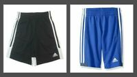 NEW - Adidas Youth Boys Black / White BasketBall Soccer Gym Athletic Shorts
