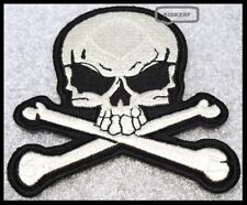 "SKULL & CROSSBONES  JACKET  VEST  HAT  BIKER PATCH  2 3/4"" X 2 1/2""  IRON OR SEW"