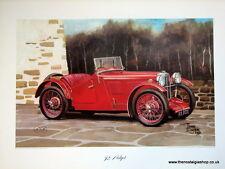 MG  J2 Midget. Vintage Car Print. MG Print.