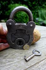 Antique Large Padlock With One Working Key Unique Made in Russia 808g 27-21